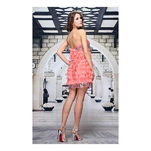 Damen Festamo Gr 36 bei Design In Rosa Cocktail Kleid Ital Mini Für BrqTwBp