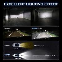 2018 novsight bombilla LED coche una par 50 W 10000 lumen H1 H4 H7 enchufes Fit para camión IP68 hermética, garantía 2 años
