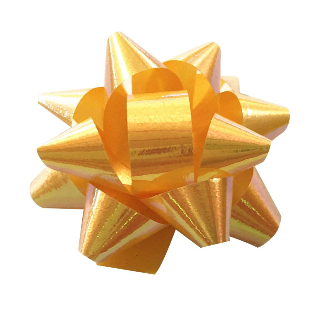 SUPVOX 70PCS Pull Bows for Gift Wrapping Star Ribbon for Gift Package Great for Wedding Birthday Parties Mixed Color