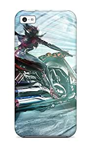 New Style 5c Protective Case Cover/ Iphone Case - Bike Girl