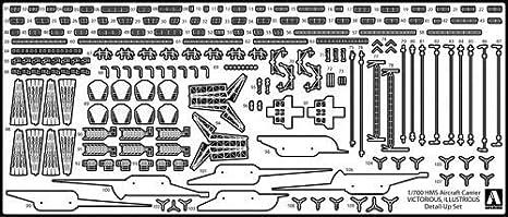 青島文化教材社 1/700 ウォーターラインシリーズ イギリス海軍 航空母艦イラストリアス エッチングパーツセット プラモデル用パーツ