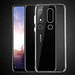 for Nokia 6.1 Plus/Nokia X6 Clear Case Soft Gel Clear Transparent Shockproof TPU Thin Slim Case Cover