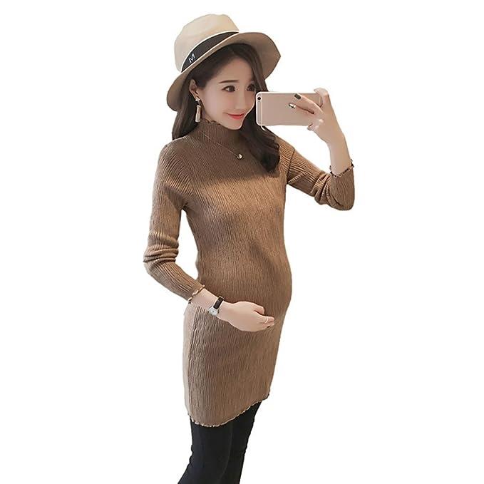 HZFF Un Gran Vestido; una Mujer Embarazada; una Chaqueta,Caqui,M