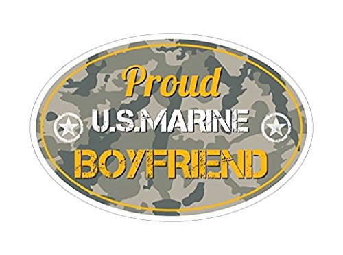 3 Pack - Proud US Marine Boyfriend Bf Bumper Sticker Vinyl Decal Subdued Camo
