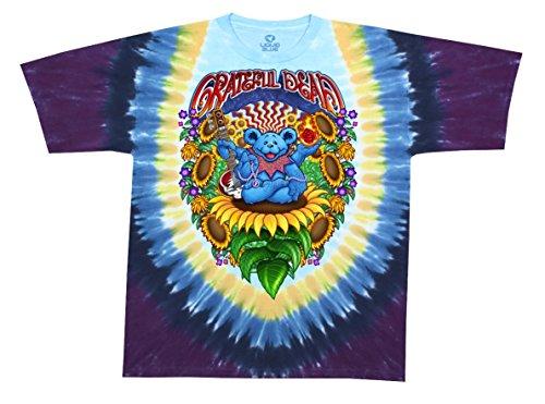 Blue Mountain Dyes LLC Grateful Dead Guru Bear Tie Dye T Shirt (Medium)