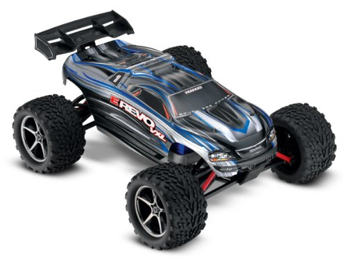 Traxxas E-Revo VXL: 1/16-Scale 4WD Racing Monster Truck with TQi 2.4GHz Radio & TSM, Silver