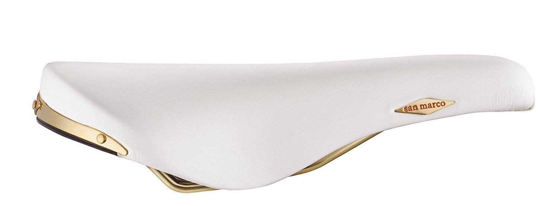 Selle San Marco Sattel Rolls Weiß/gold Microfeel .