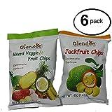 Glendee Mixed Veggie & Fruit Chips   Jackfruit Chips BUNDLE 6 PACK 1.94OZ 55G Each