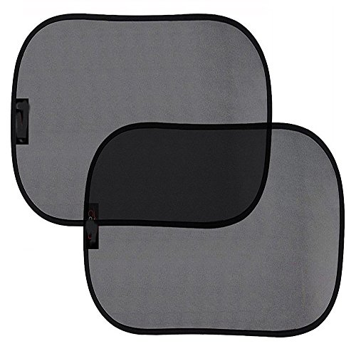 Car Window Shade ( 2 Pack ) ,Cling Sunshade For Car Windows Protect your baby in the back seat from sun glare and heat. Blocks over 99% of harmful UV