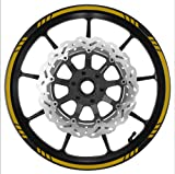 GOLD Wheel Rim Tape SPEED Graduated Stripe fit ALL Makes of Motorcycles, Cars, Trucks