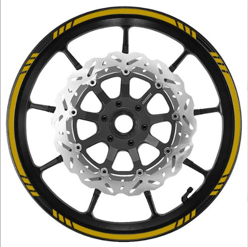 (GOLD Wheel Rim Tape SPEED Graduated Stripe fit ALL Makes of Motorcycles, Cars, Trucks)