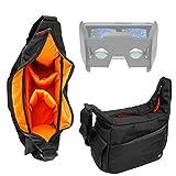 Durable Shoulder 'Sling' Bag in Black & Orange for the Homido HOMIDO V1 VR Headset - By DURAGADGET