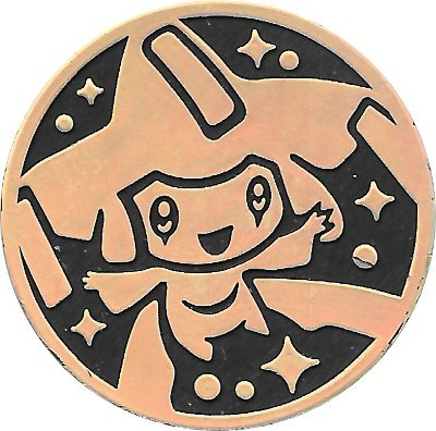 Jirachi Coin from the Pokemon Trading Card Game - Gold Mirror Holofoil by Pokémon