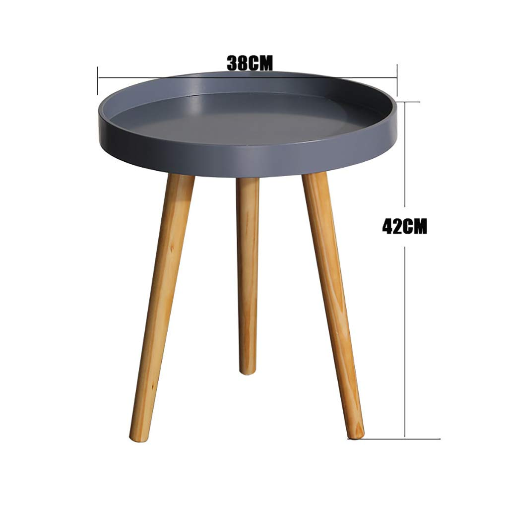 Garde Small Round Table, Simple Mini Bedroom Modern Household Small Coffee Table, Solid Wood Creative Leisure Negotiation Small Table (Color : B, Size : 6042CM) by Garde