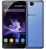 Blackview P2 - 5,5 pollici Android 6.0 smartphone 4G 4GB di RAM 64GB ROM Octa core da 1.5GHz Camera 8.0MP + 13.0MP impronta digitale 6000mAh batteria Corpo in metallo - blu