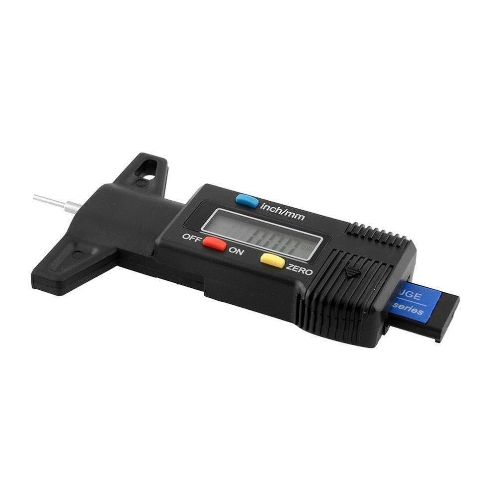 0-25.4mm Large LCD Display Inch//MM Adjustable Tread Depth Measuring Tool Motorbike Car Van Tyre KOBWA Digital Tyre Tread Depth Gauge