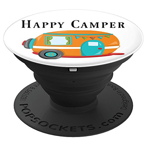 Happy Camper RV PopSocket Grip/Stand For Phones/Tablets made our list of gift ideas rv owners will be crazy about that make perfect rv gift ideas which are unique gifts for camper owners