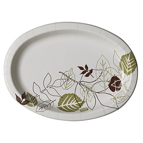 Dixie Ultra SX9PLPATH Pathways Heavy Weight Oval Paper Platter, 9