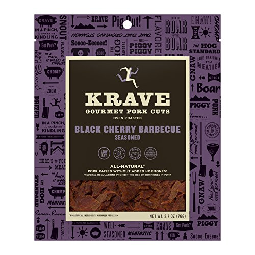 KRAVE Jerky Gourmet Pork Cuts, Black Cherry Barbeque, 2.7 Ounce
