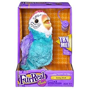 Amazon Com Furreal Friends Baby Bird Parrot Blue