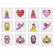 Princess Temporary Tattoos Pack of 24 - Great Party Loot Bag Fillers Boys or Girls