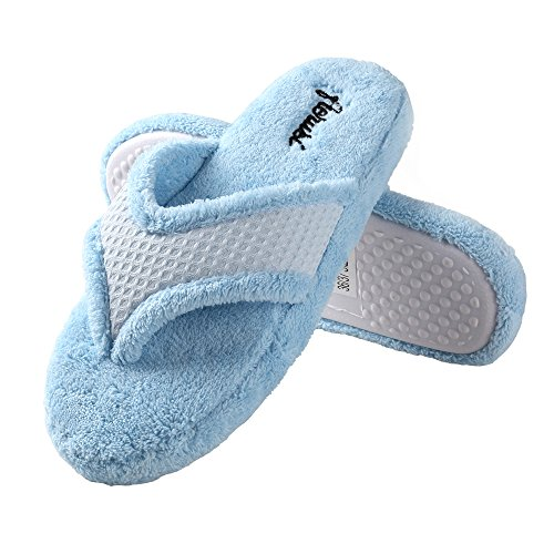 Pantofole Aerusi Da Donna In Microfibra Blu