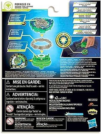 Hasbro Beyblade Burst Turbo SlingShock Rip Fire Pack - Forneus F4 ...