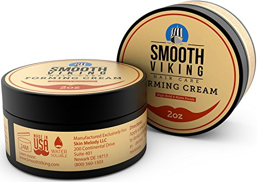 Forming Cream for Men - Hair Styling Cream for High Hold & Matte Finish - Best Pliable Formula for Modern, Classic & Slick Styles - Short, Long & All Other Hair Types- 2 OZ - Smooth Viking by Smooth Viking Beard Care (Image #2)