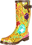 Chooka Women's Forest Blossoms Rain Boot,Yellow,7 M US