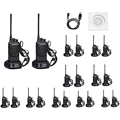 Walkie Talkies Ways Radio Long Range and Reachargeble Baofeng BF-888SA  20 Packs  with Earpieces Mic for Adults Trolling Camping Hiking Hunting Travelling