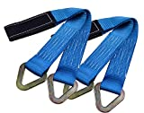 RELIABLESLING Premium Axle Straps with D-Ring 2-Pack of 2'', 36'',10,000 Pound Capacity