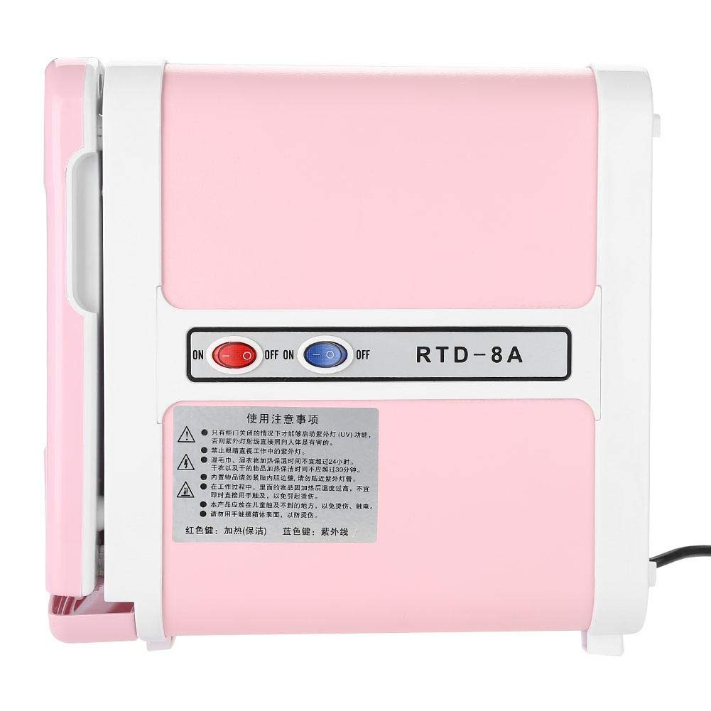 Sterilizer Cabinet, Mini Towel Warming Disinfection Cabinet Heating Sterilization Machine for Spa Massage Tools, Clothing, Towel (Pink) by TMISHION (Image #2)