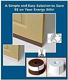 40'' Peel and Stick Door Weather Proofing Sealer - White