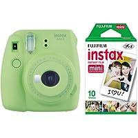 instax mini 9 Makine+10'lu Film+Askı (yeşil)