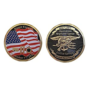 Operation Neptune Spear Navy SEAL Challenge Coin (bin Laden E-KIA)