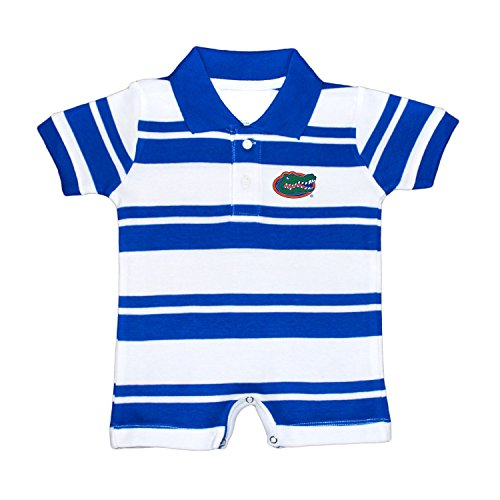 Florida Gators NCAA College Infant Baby Rugby Striped Romper (6 (Jersey Striped Onesie)