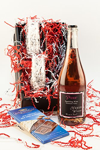 Naked Winery Purrfect Bubbly Sparkling Wine Gift Set, 1 x 750 mL