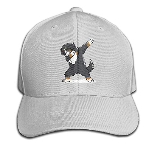 BLUERTUE Funny Dabbing Bernese Mountain Dog Baseball Hat Trucker Hat Dad Cap Dad Hat Gray - Mountain Dog Hat
