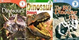 img - for 3 Volumes of DK Readers on Dinosaur's: 1) Beginning to Read- Dinosaur's Day 2) Beginning to Read Alone- Dinosaur Dinners 3) Reading Alone- The Big Dinosaur Dig book / textbook / text book