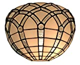 Amora Lighting AM271WL12 Tiffany Style White Wall Sconce Lamp 12 in Wide