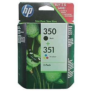 HP 350-351 - Pack de ahorro de 2 cartuchos de tinta Original HP 350 Negro , HP 351 Tricolor para HP OfficeJet y HP PhotoSmart