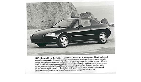 Amazon.com: 1993 Honda Civic Del Sol Si Automobile Photo ...