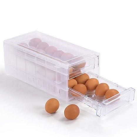 MJY Caja de Almacenamiento Caja de Huevo Transparente Huevo de ...