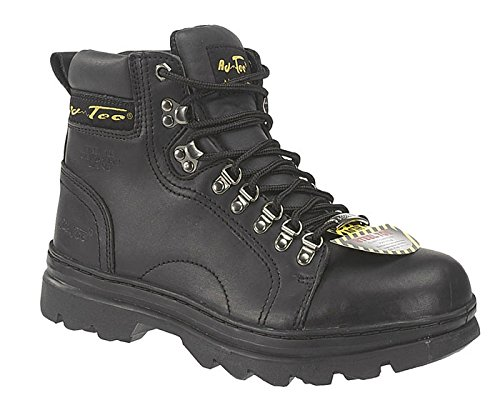Adtec Mens Black 6in Steel Toe Hiker Leather Work 9 W by Adtec