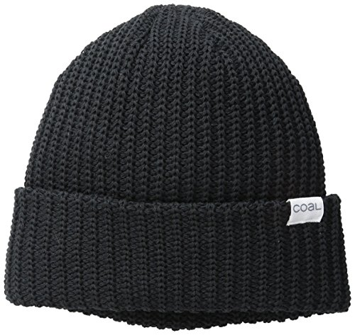 - The Eddie Recycled Rib Knit Beanie Hat, Black, One Size