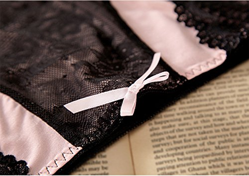 Mujer Ropa Interior Grande Del Tamaño De Cintura Alta Escritos Modales Del Cordón Atractivo Paquete De 4 A1