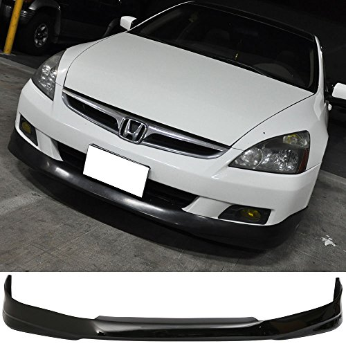 Pre-Painted Front Bumper Lip Fits 2006-2007 Honda Accord | HF-P style Nighthawk Black Pearl #B92P PU Front Lip Finisher Under Chin Spoiler Add On other color availble by IKON (2006 Honda Nighthawk)