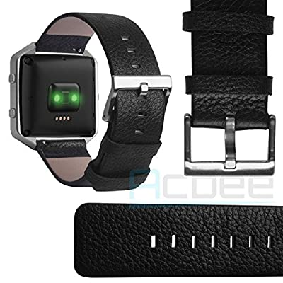ACBEE Fitbit Blaze Genuine Leather Band,Classic Design,Best air permeability.Tactile and Tough!