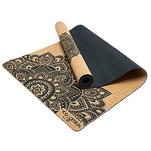 YOGA DESIGN LAB | The Cork Yoga Mat | Eco Luxury | Ideal for Hot Yoga, Power, Bikram, Ashtanga, Sweaty Workouts | Studio…