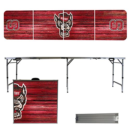 NCAA North Carolina State Wolfpack NC State Weathered Version 8' Folding Tailgate Table by Victory Tailgate